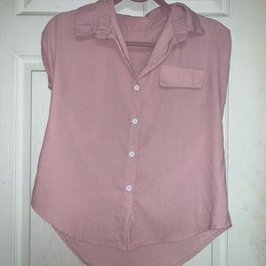 Pink roll up blouse